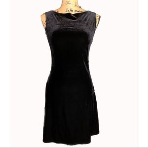 Black Velour Sleeveless Dress